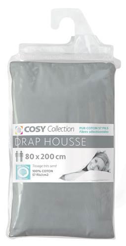drap housse 80x200 100 coton 57 fils. Black Bedroom Furniture Sets. Home Design Ideas