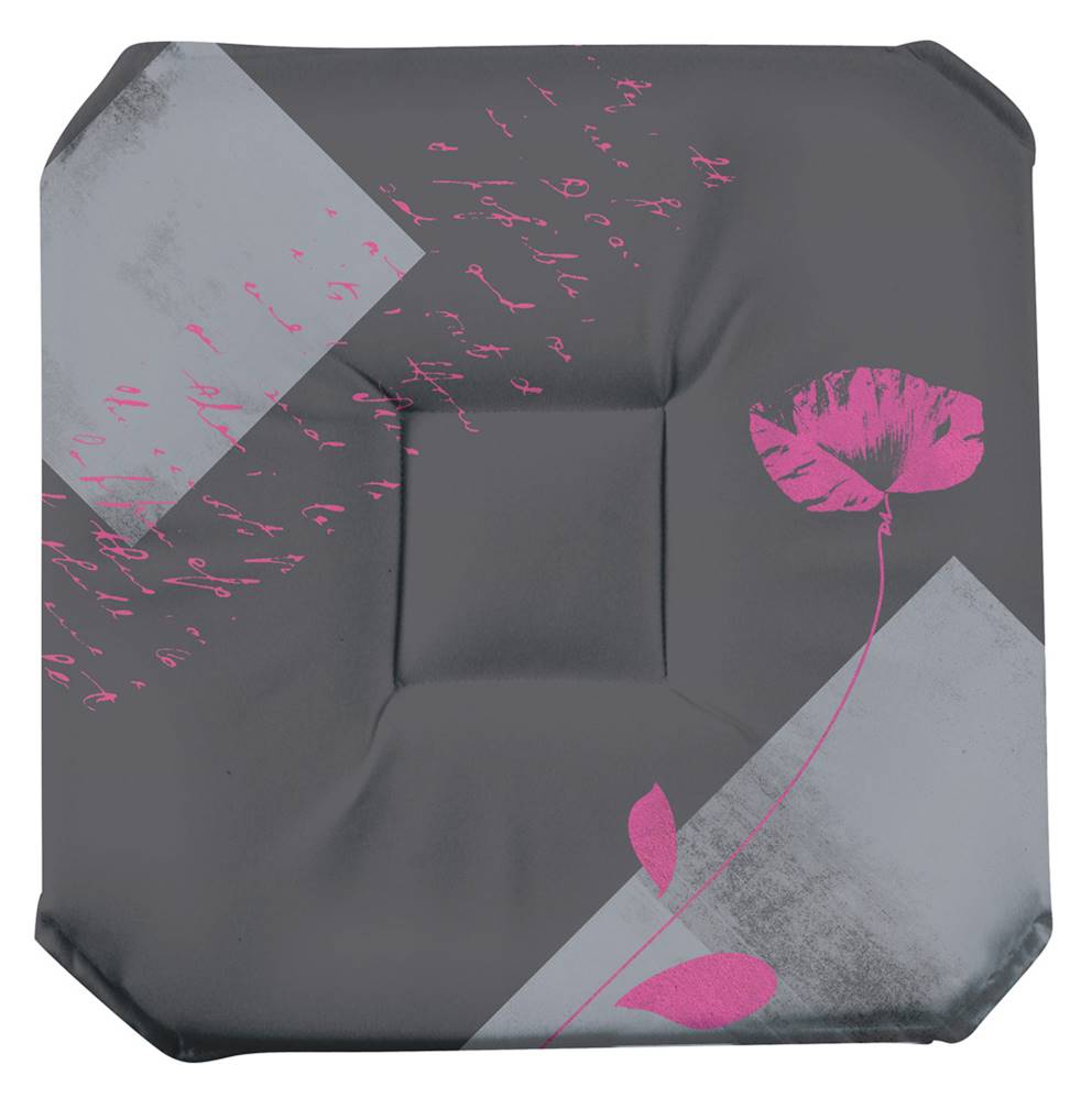 Galette de chaise imprim e 100 polyester 36x36 avec rabats for Galette de chaise 4 rabats