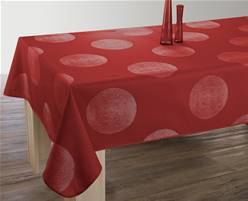Nappe anti taches<BR>Cercles rouge