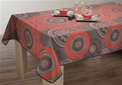 Nappe anti taches<BR>Mandala rouge