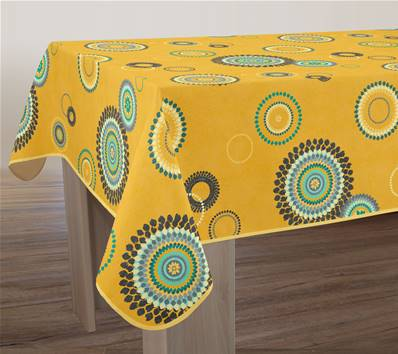 Nappe anti taches<BR>Paillettes jaune