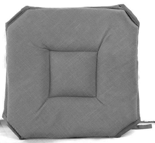 galette de chaise avec rabat