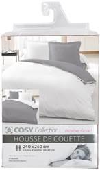 housses de couette polycoton 240x260. Black Bedroom Furniture Sets. Home Design Ideas