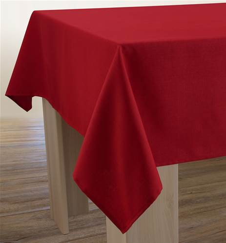 Nappe Unie - Anti-taches - Rouge