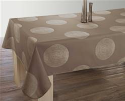 Nappe anti taches<BR>Cercles taupe