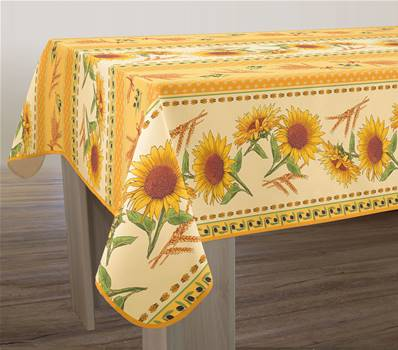 Nappe anti-taches <BR> Tournesol jaune