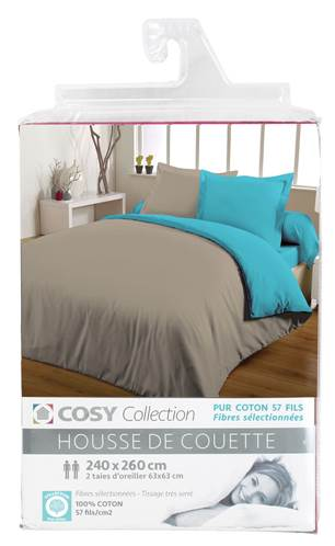 housses de couette unies 240x260 entretien facile coton 57 fils. Black Bedroom Furniture Sets. Home Design Ideas