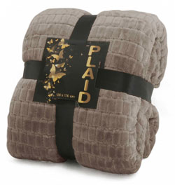 Plaid Sherpa 130x170<BR>TAUPE