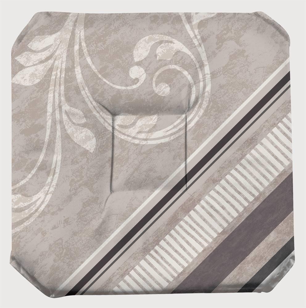 Galette de chaise imprimée 100% polyester 36x36 avec rabats