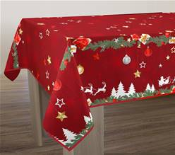 Nappe anti taches<BR>Noël rouge