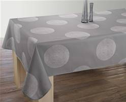 Nappe anti taches<BR>Cercles gris