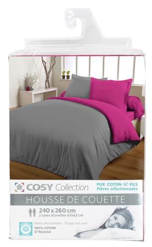 housses de couette unies 240x260 entretien facile coton 57. Black Bedroom Furniture Sets. Home Design Ideas