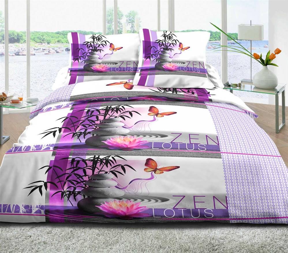 housses de couette imprim es 240x260 pur coton 57 fils. Black Bedroom Furniture Sets. Home Design Ideas