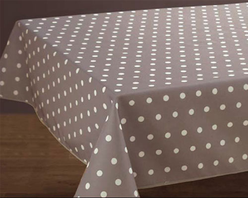 Nappes anti taches<BR>Pois taupe