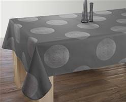 Nappe anti taches<BR>Cercles anthracite