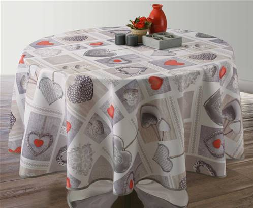 Nappe anti taches<BR>Coeurs