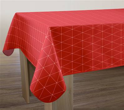 Nappe anti-taches <BR>Geo rouge