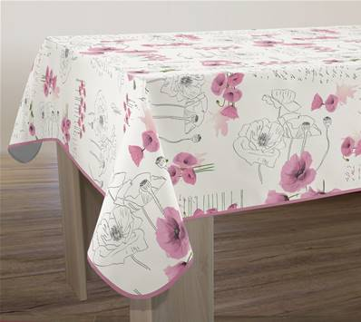 Nappe anti-taches <BR> Poppies rose