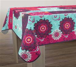 Nappe anti taches<BR>Flamenco fuchsia