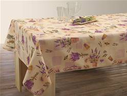 Nappe anti taches<BR>Lavande naturel