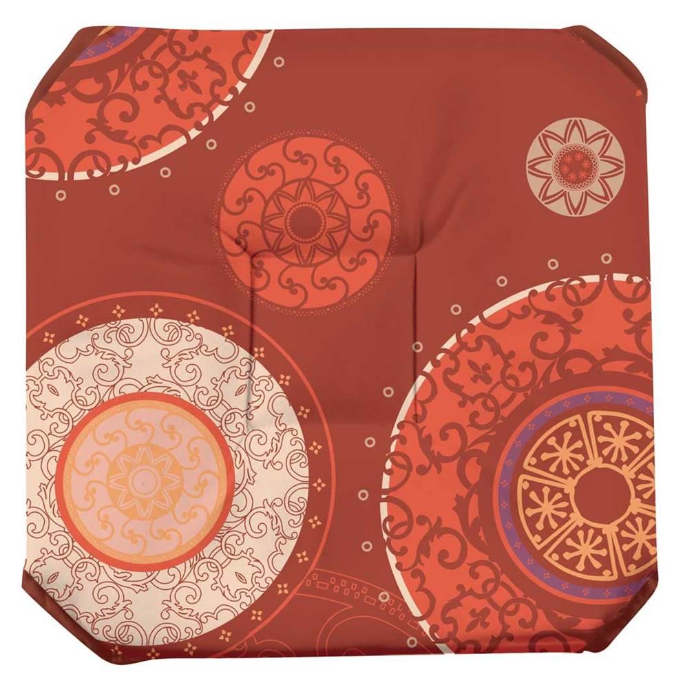 galette de chaise imprim e 100 polyester 36x36 avec rabats. Black Bedroom Furniture Sets. Home Design Ideas