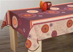 Nappe anti taches<BR>Tzigane prune