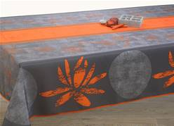 Nappes anti taches<BR>Lotus orange